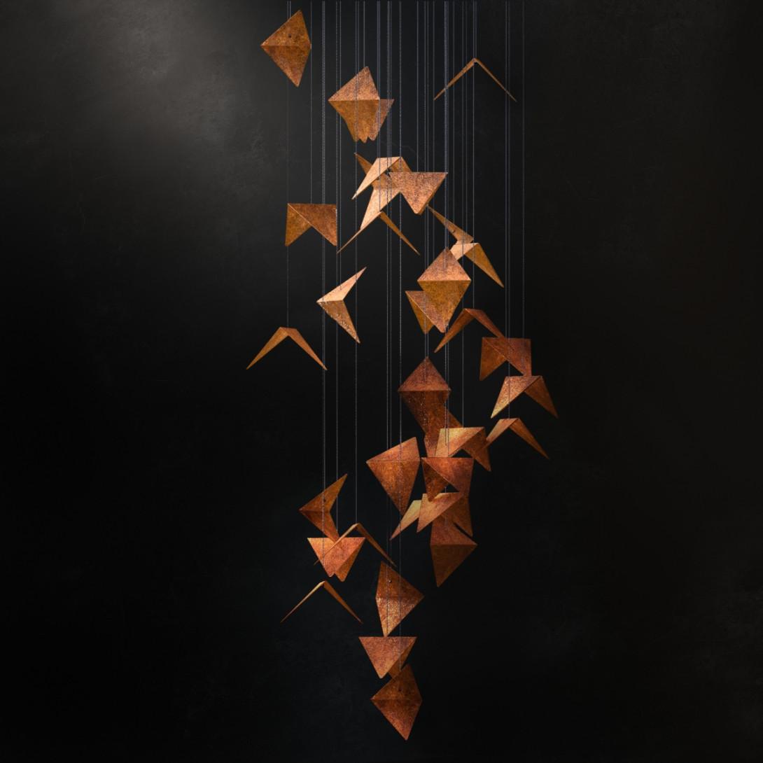 Portal chandelier black&rust LGH0831 - gie el