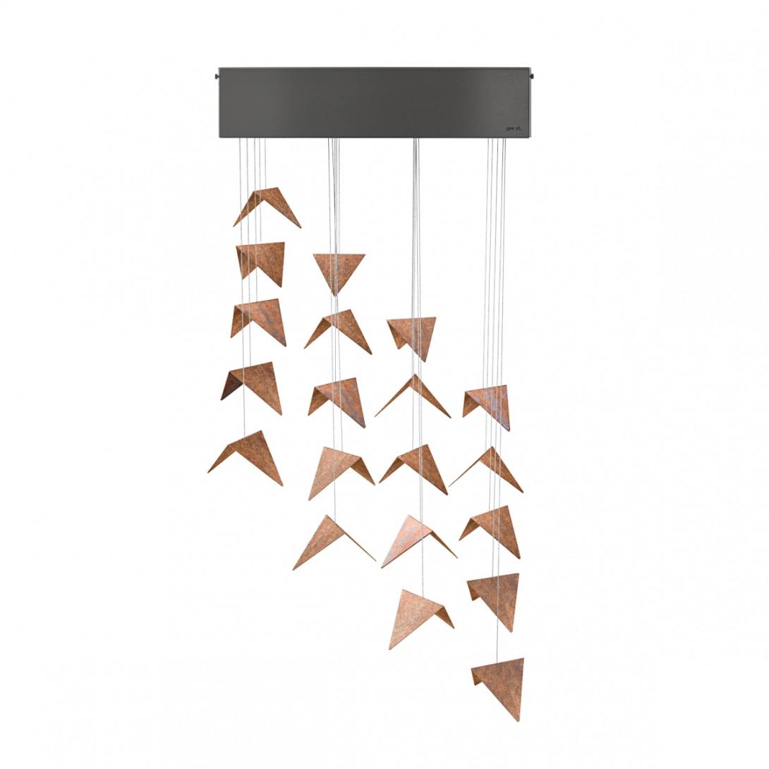 RECT chandelier black&rust LGH0811 - gie el
