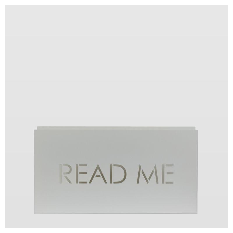 Gazetnik READ ME biały AMB0011 - gie el