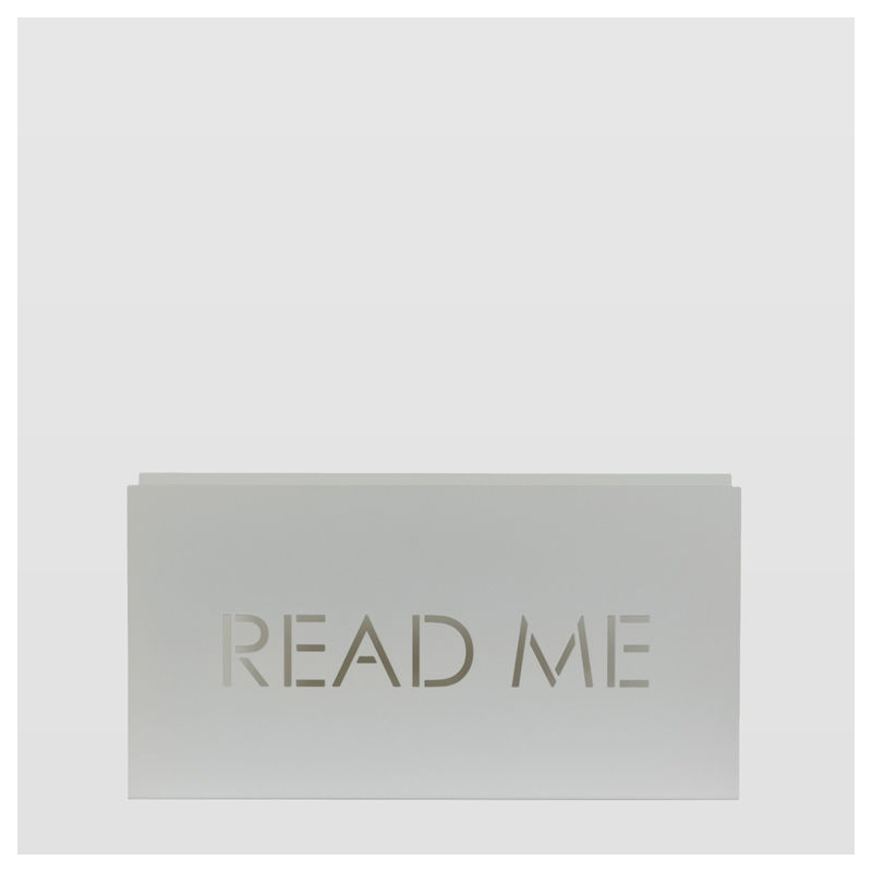 Newspaper holder READ ME biały AMB0011