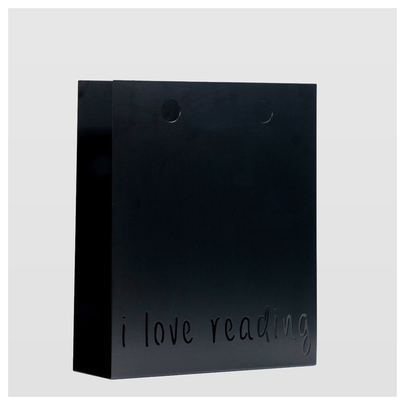 Newspaper holder I LOVE READING black AMB0012