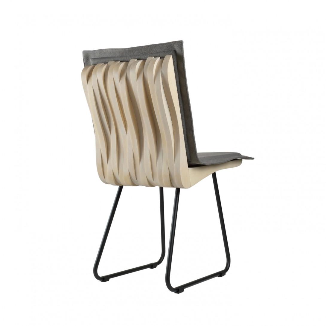 Krzesło do jadalni drewniane bukowe ORGANIQUE białe FST0343 - 7