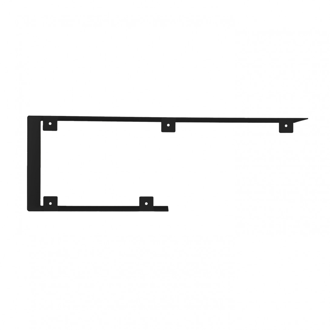 Asymmetrical steel wall shelf C black ASH0060 - 1
