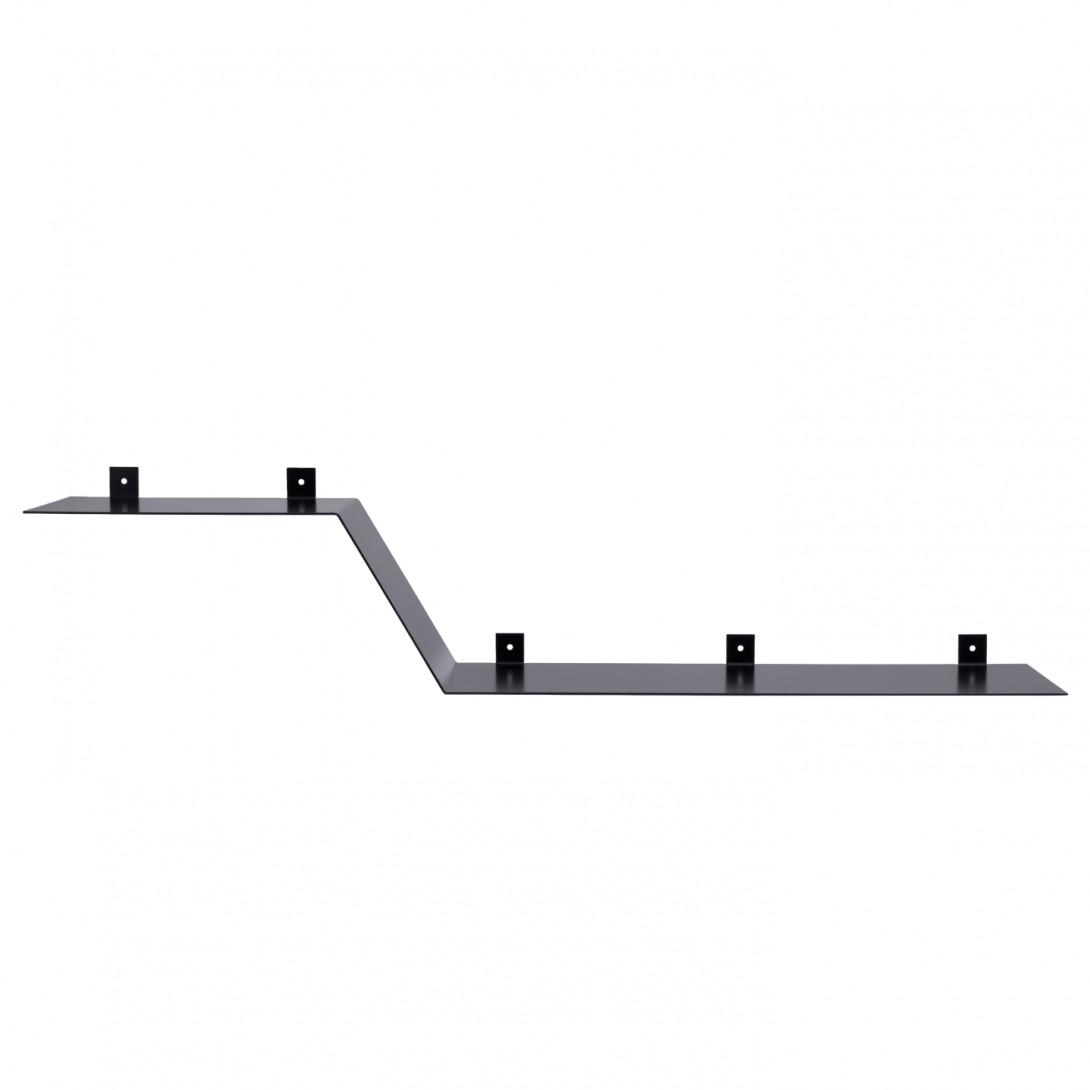 Asymmetrical steel wall shelf Z black ASH0050 - gie el