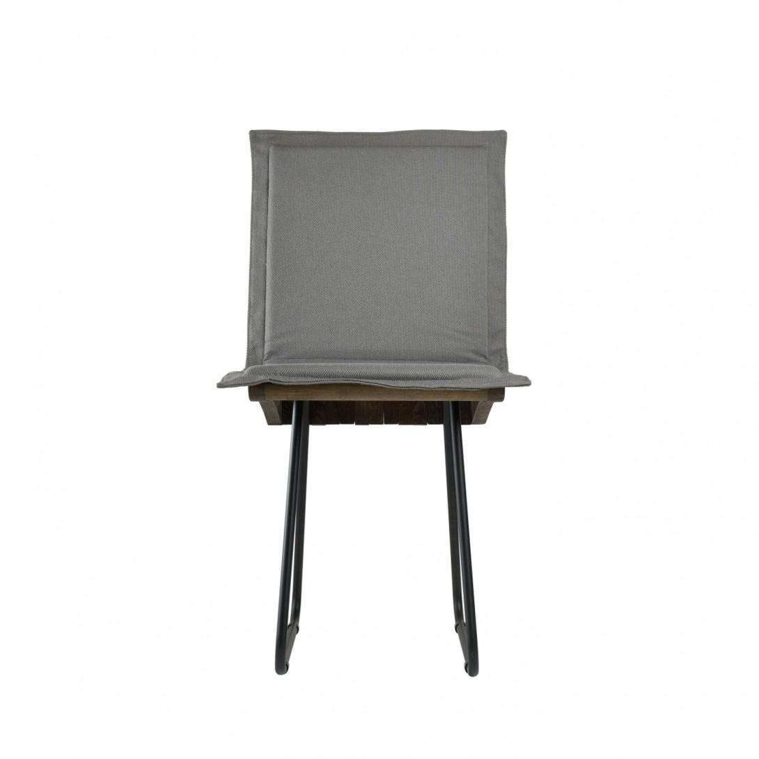 ORGANIQUE chair on steel skids dark brown FST0341