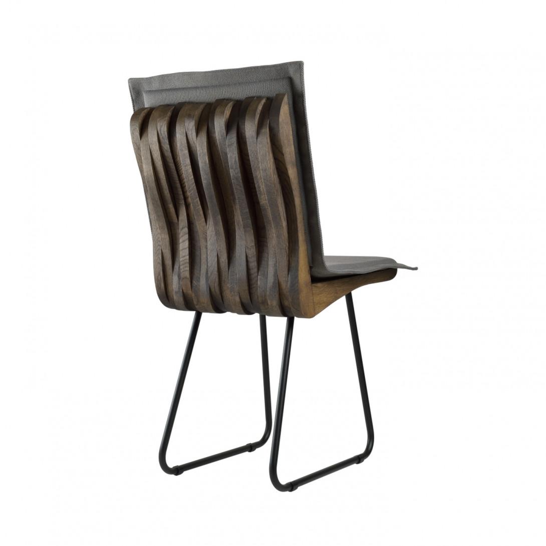 ORGANIQUE chair on steel skids dark brown FST0341 - 7 - gie el