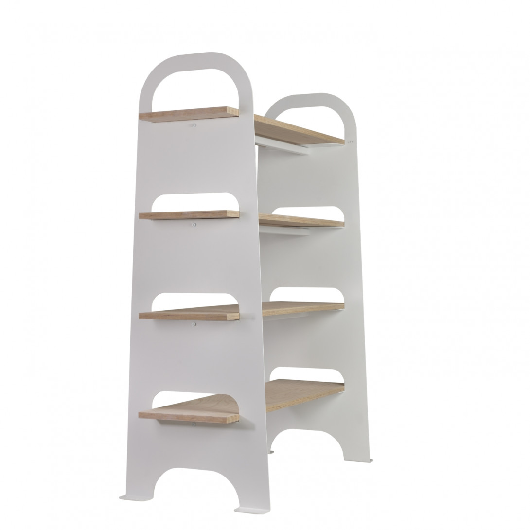 Steel bookcase SCALA white FUR0241 - gie el