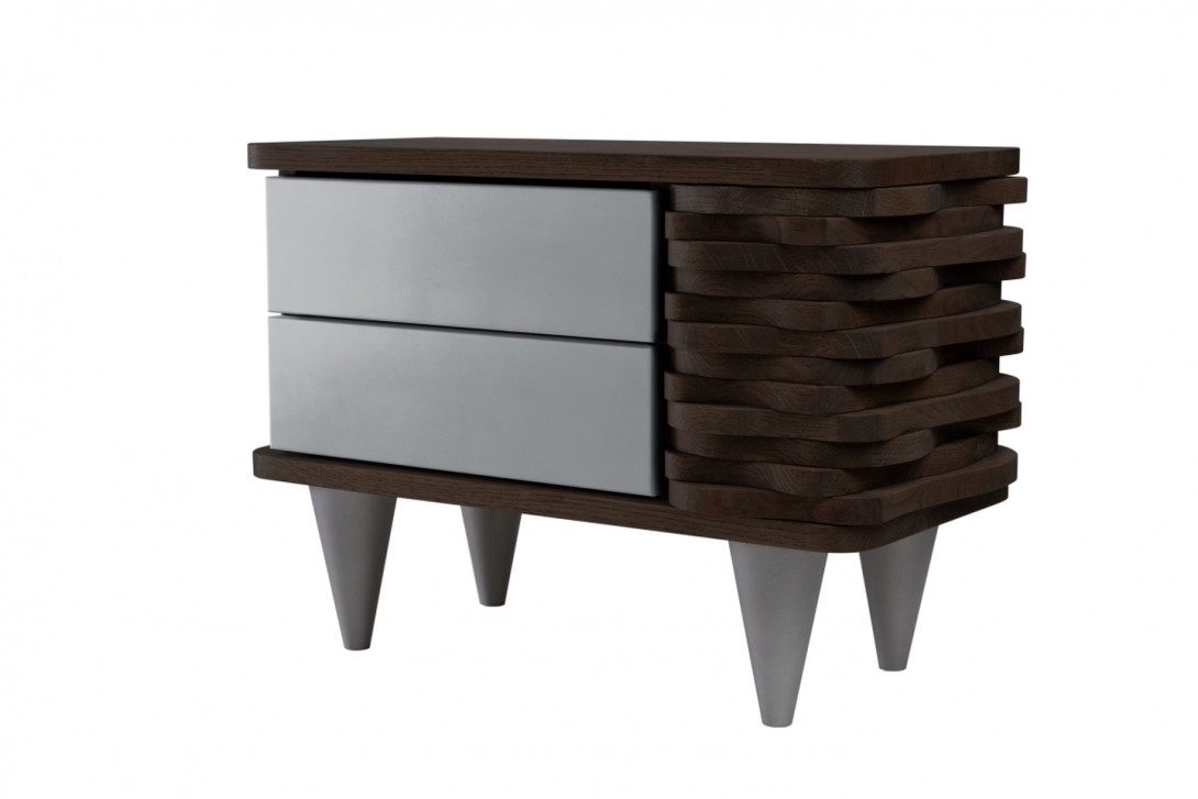 ORGANIQUE nighstand FUR0151 dark brown/silver - gie el