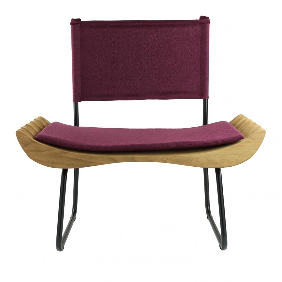 Fotel drewniany ORGANIQUE FST0284 fioletowe siedzisko