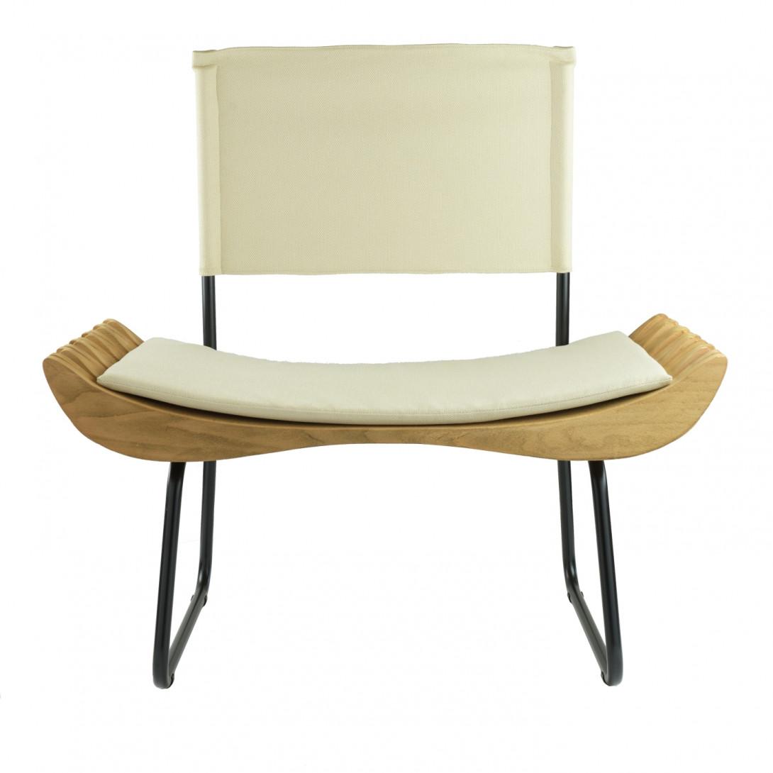 Fotel drewniany ORGANIQUE FST0283 beżowe siedzisko