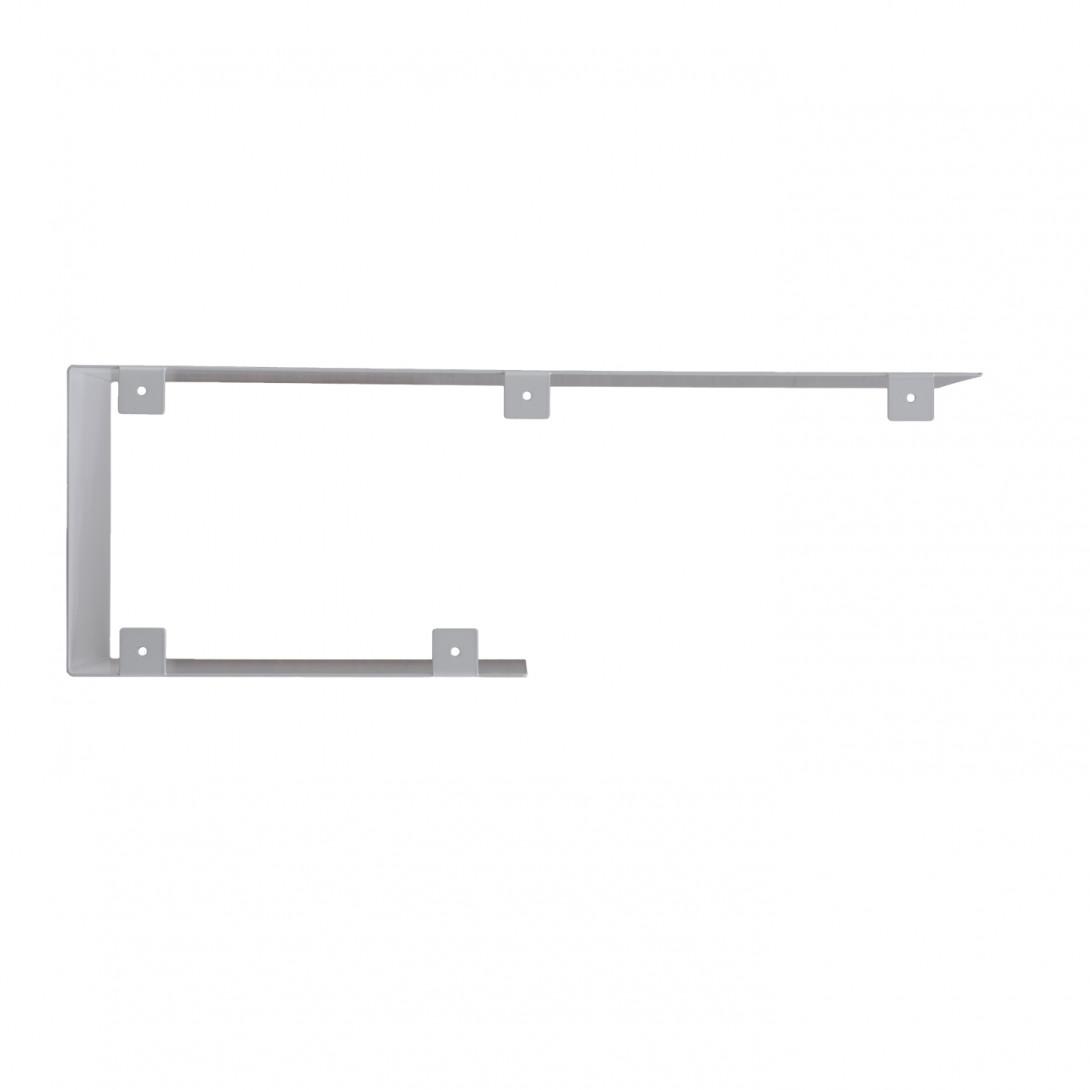 Asymmetrical steel wall shelf C white ASH0061 - 1