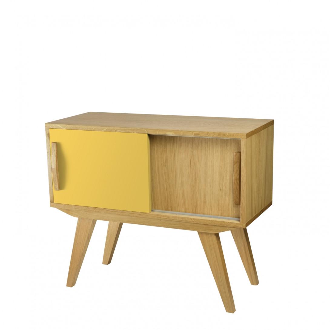 Cabinet PRL yellow brown FUR0214