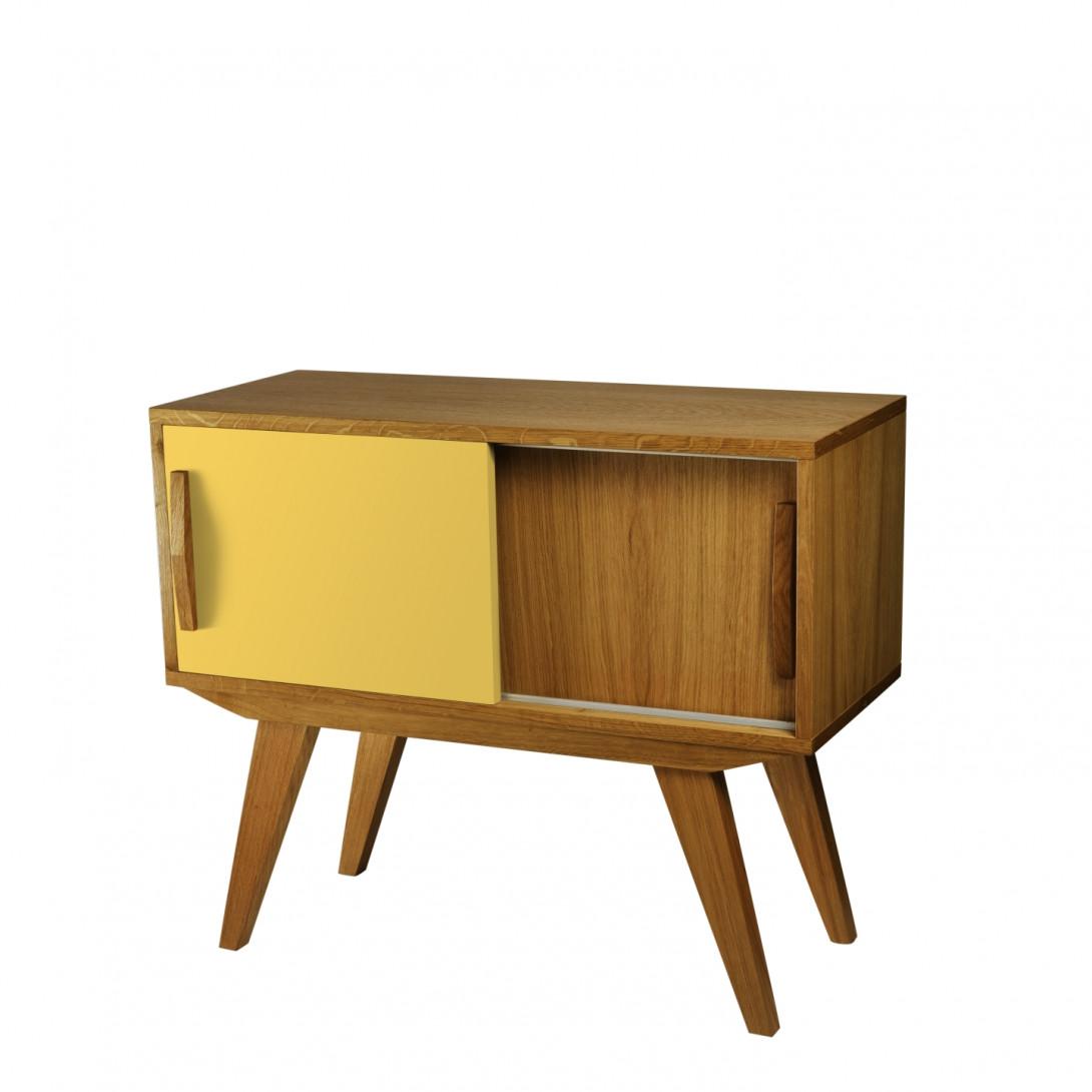 Cabinet PRL yellow dark brown FUR0224