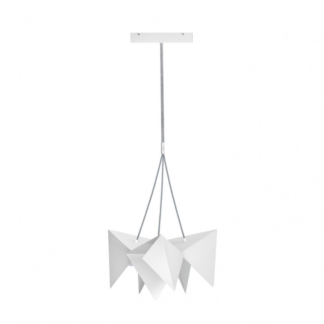 Steel pendant lamp HANA white LGH0761