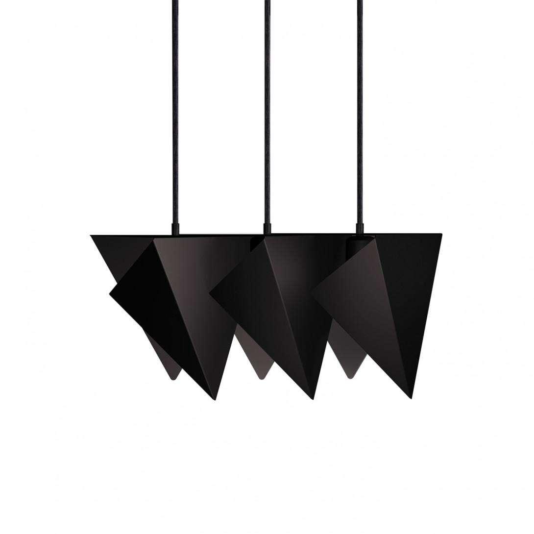 Steel pendant lamp TRIO black LGH0770