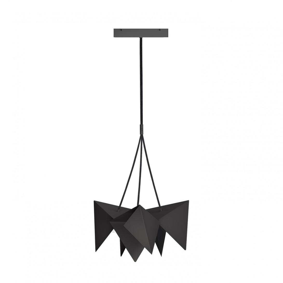 Steel pendant lamp HANA black LGH0760 - gie el