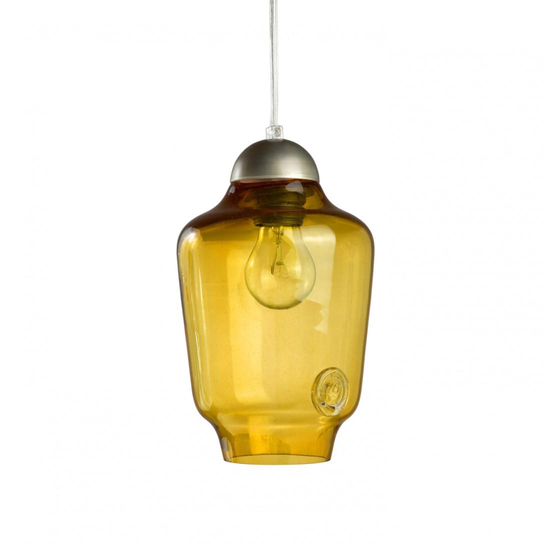 Lampa wisząca szklana BEE small miodowa LGH0060