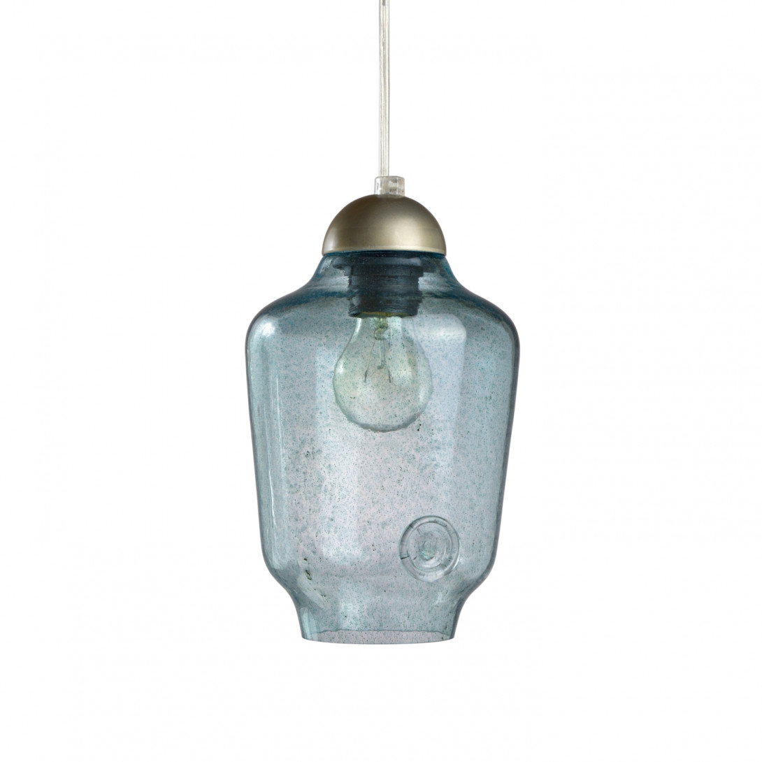 Glass pendant lamp BEE LGH0061 turquoise