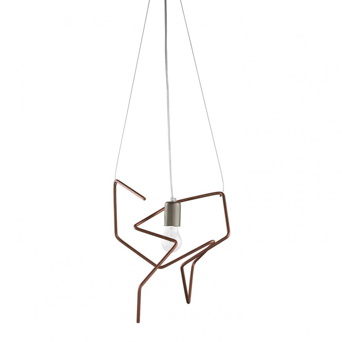 Copper tubes pendant lamp SPIDER II LGH0430 - gie el