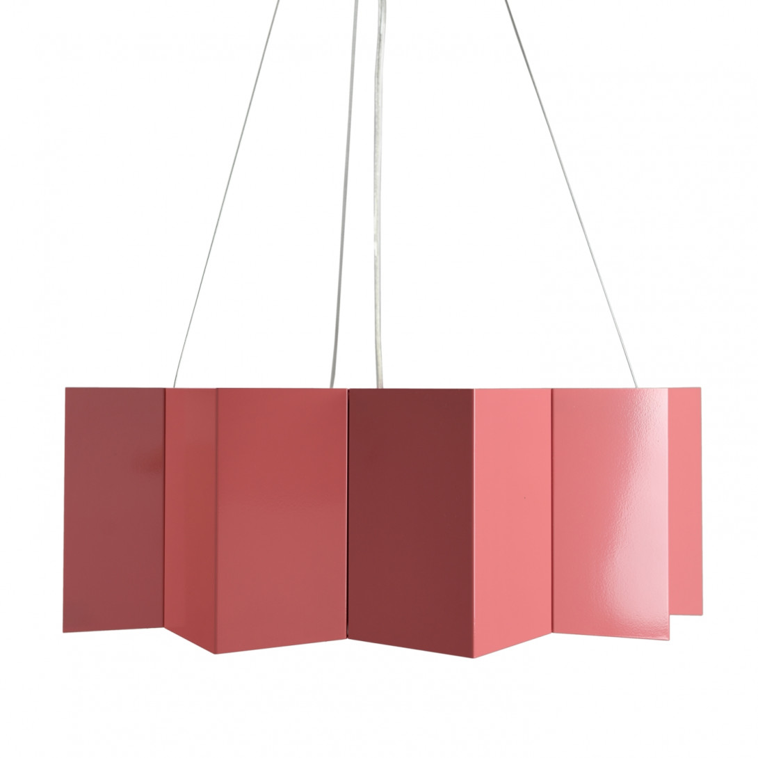 Steel pendant lamp STAR big dusty pink LGH0545