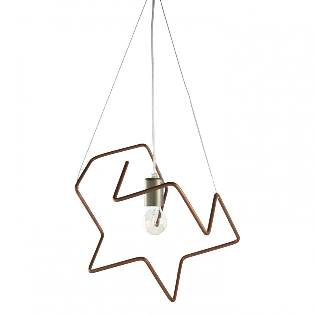 Copper tubes pendant lamp SPIDER I LGH0431
