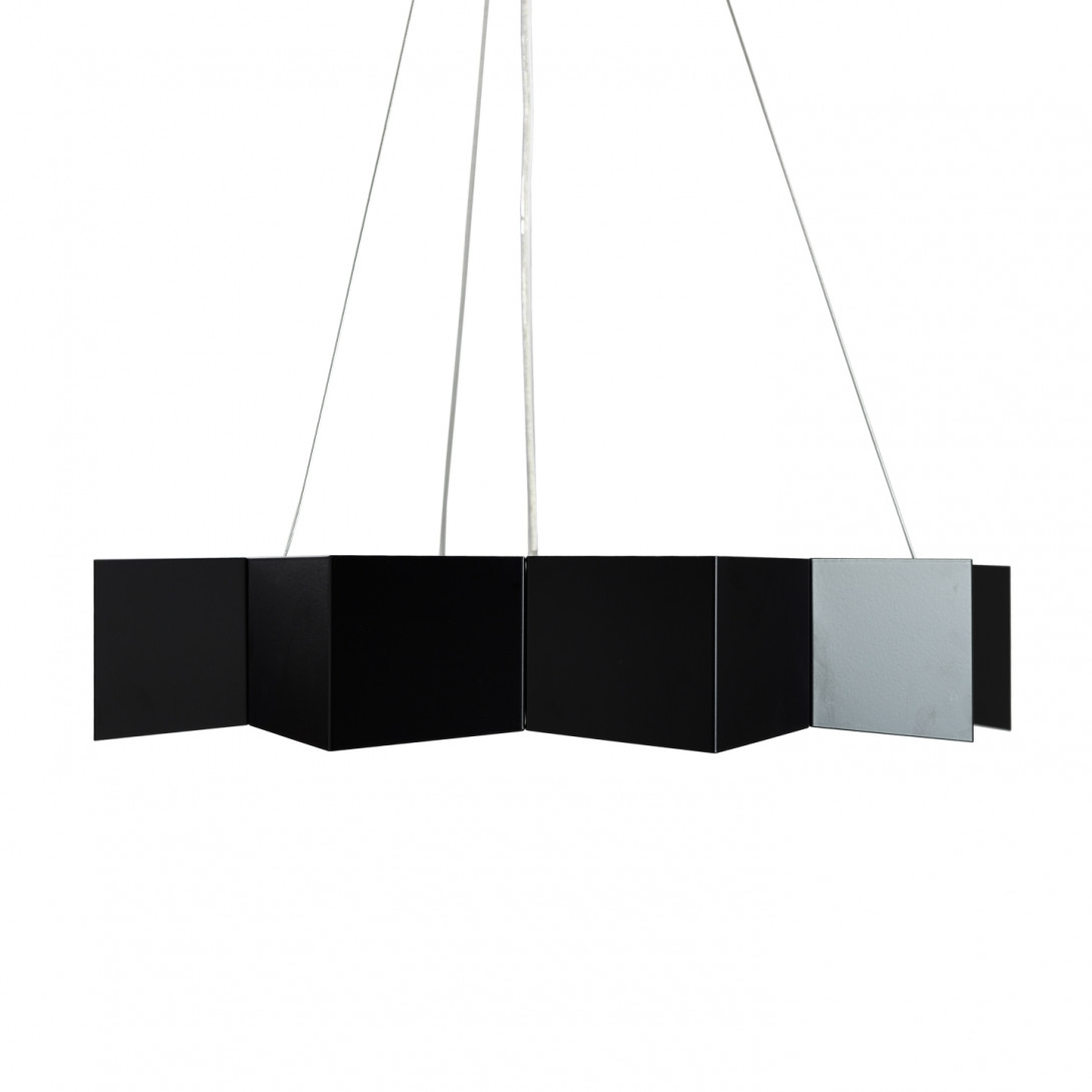Steel pendant lamp STAR black LGH0530 - gie el