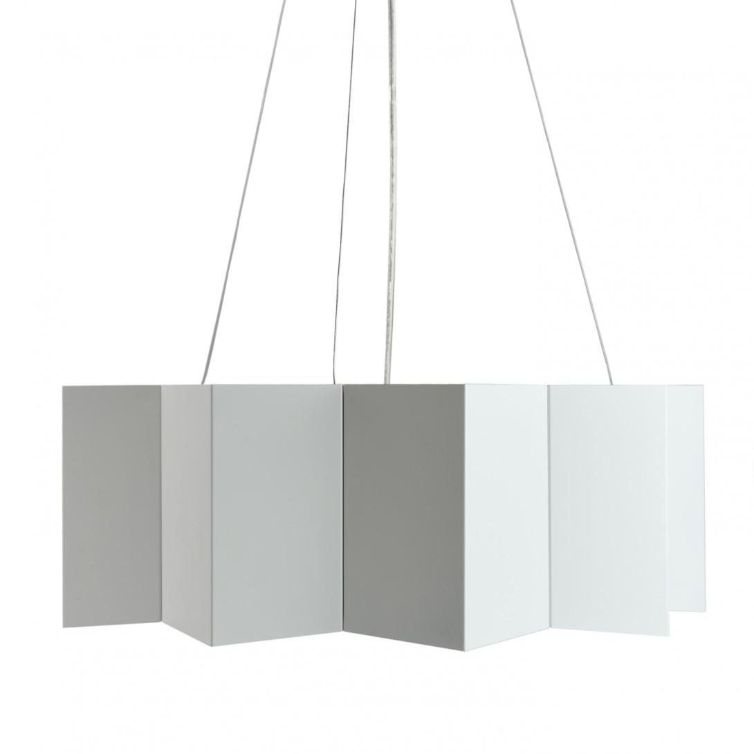 Steel pendant lamp STAR big white LGH0541 - gie el