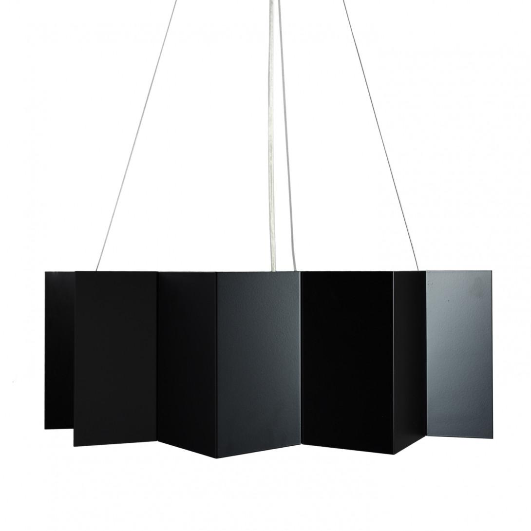 Lampa wisząca stalowa STAR big czarna LGH0540 - gie el