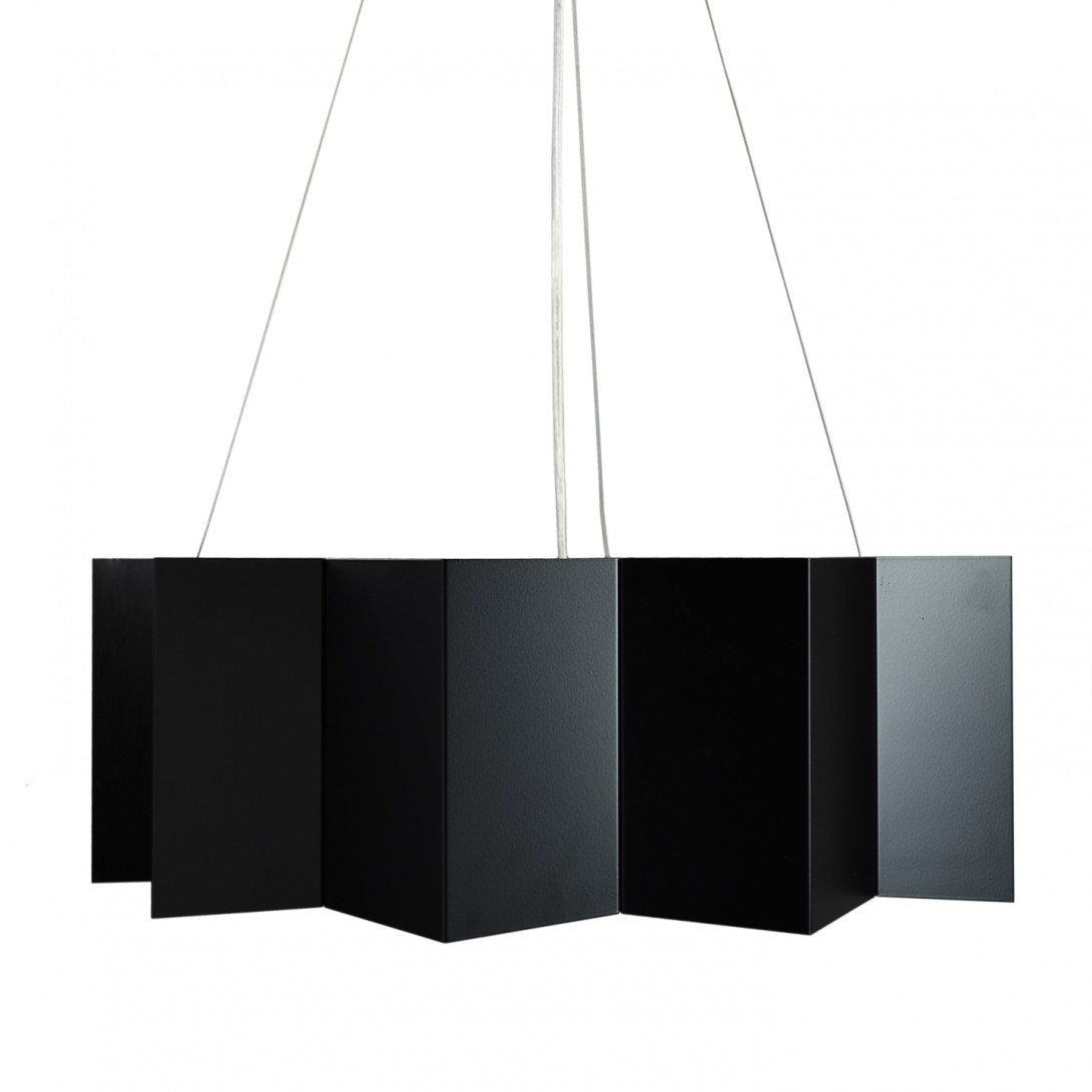 Steel pendant lamp STAR big black LGH0540 - gie el