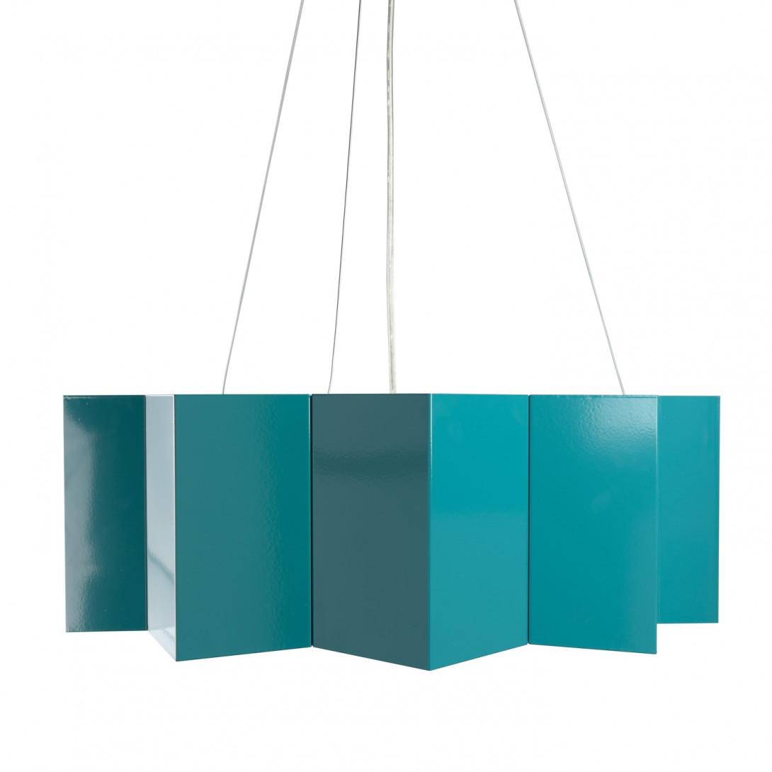 Steel pendant lamp STAR big dark tutquoise LGH0544 - gie el