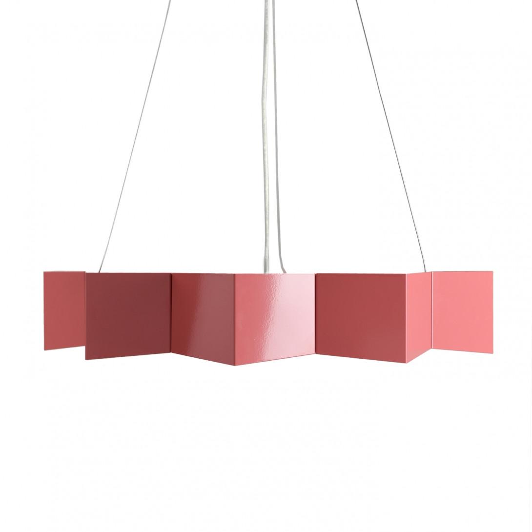 Steel pendant lamp STAR dusty pink LGH0535