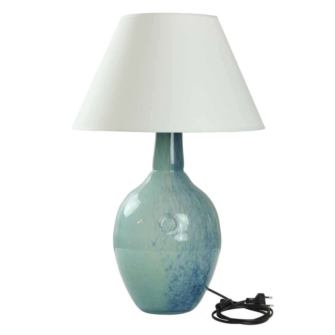 Glass table lamp RAFAELLO blue-green LGH0073 - gie el
