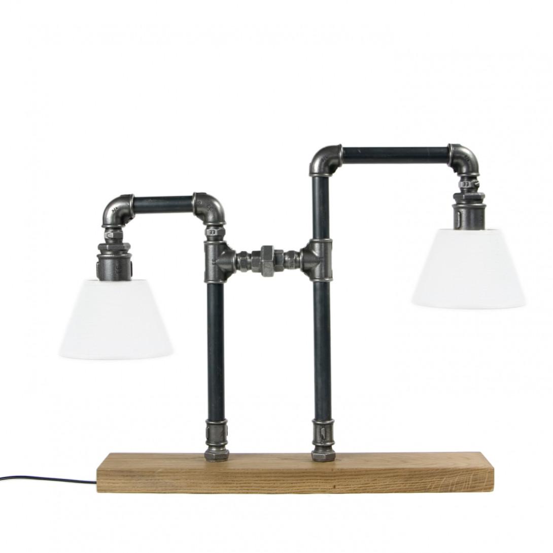 Steel table lamp LANTERN LGH0090