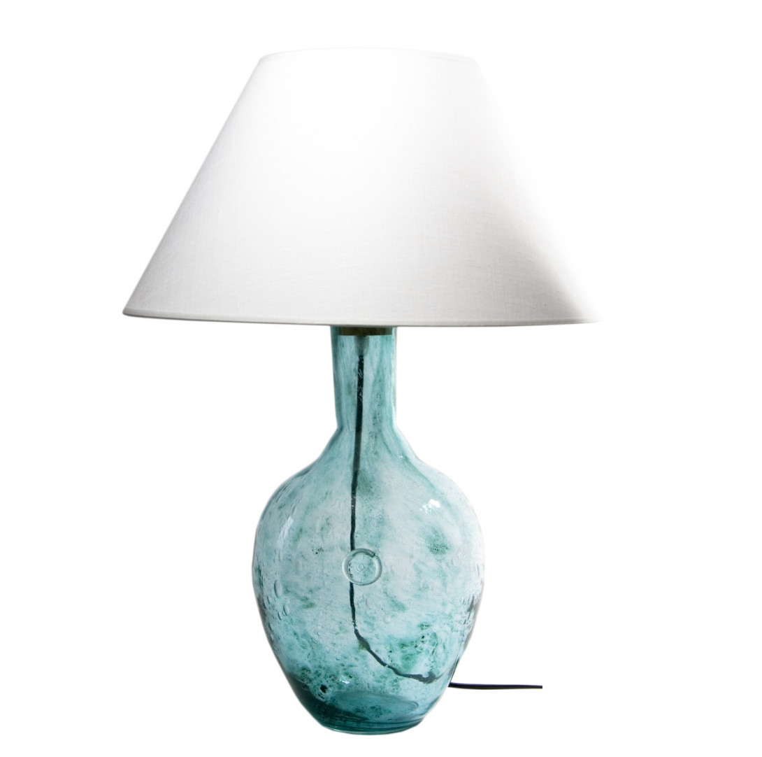 Glass table lamp RAFAELLO turquoise LGH0071