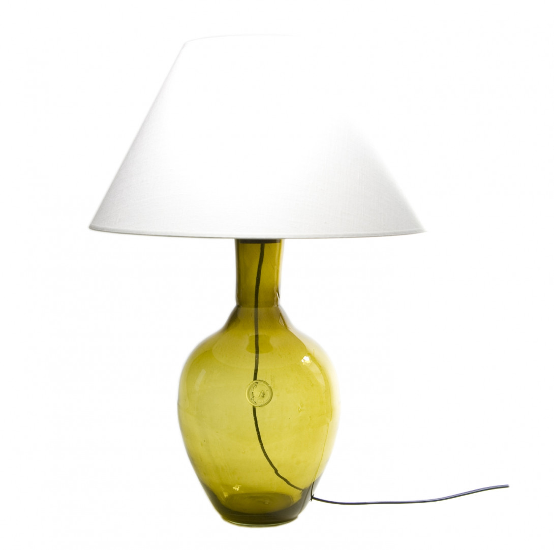 Glass table lamp RAFAELLO olive LGH0072