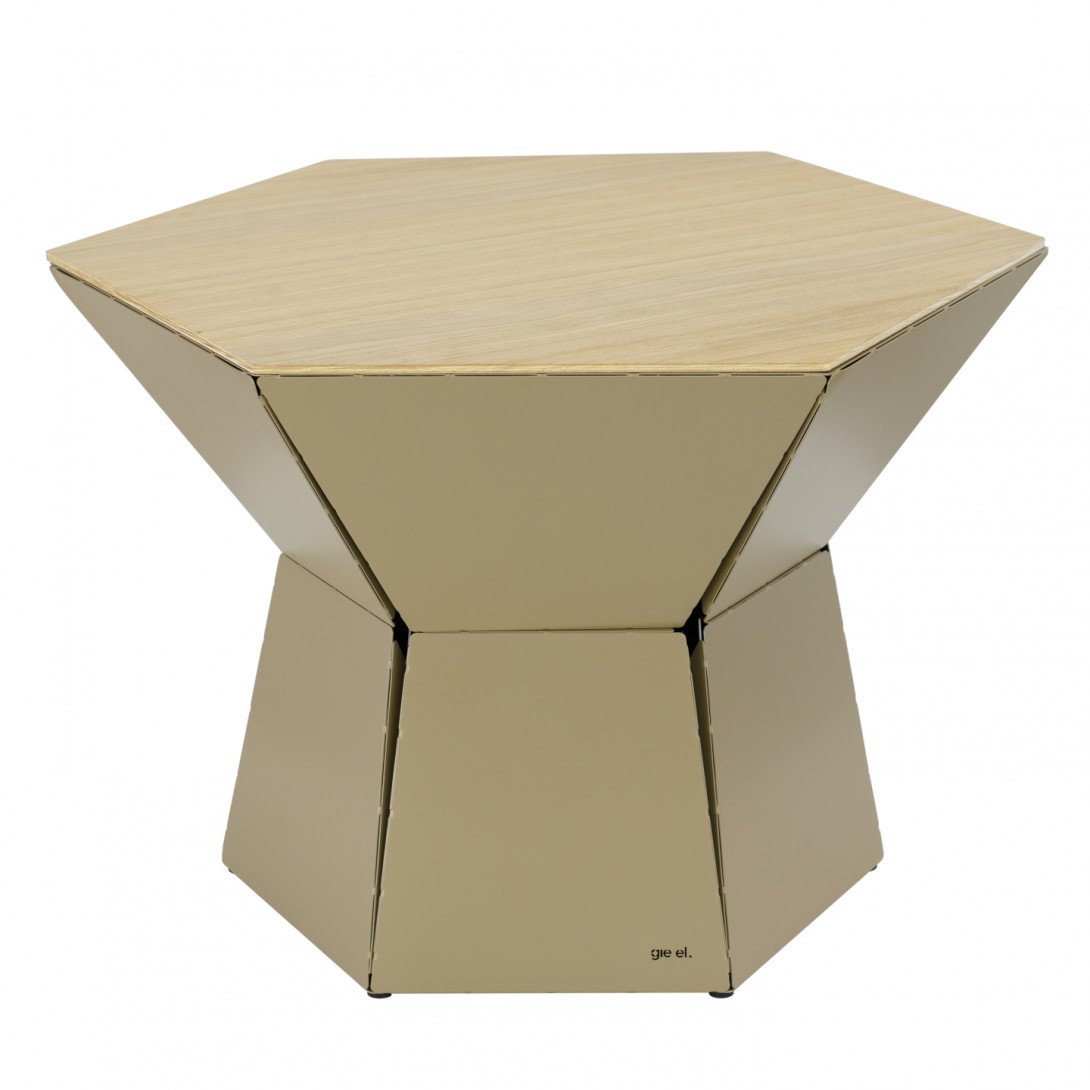 HEXA III coffee table in champagne FCT0343