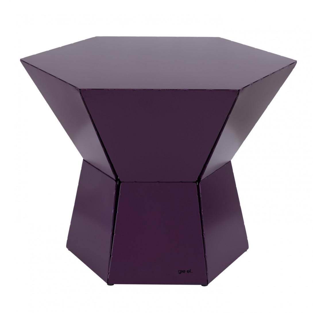 HEXA III coffee table in plum colour FCT0342