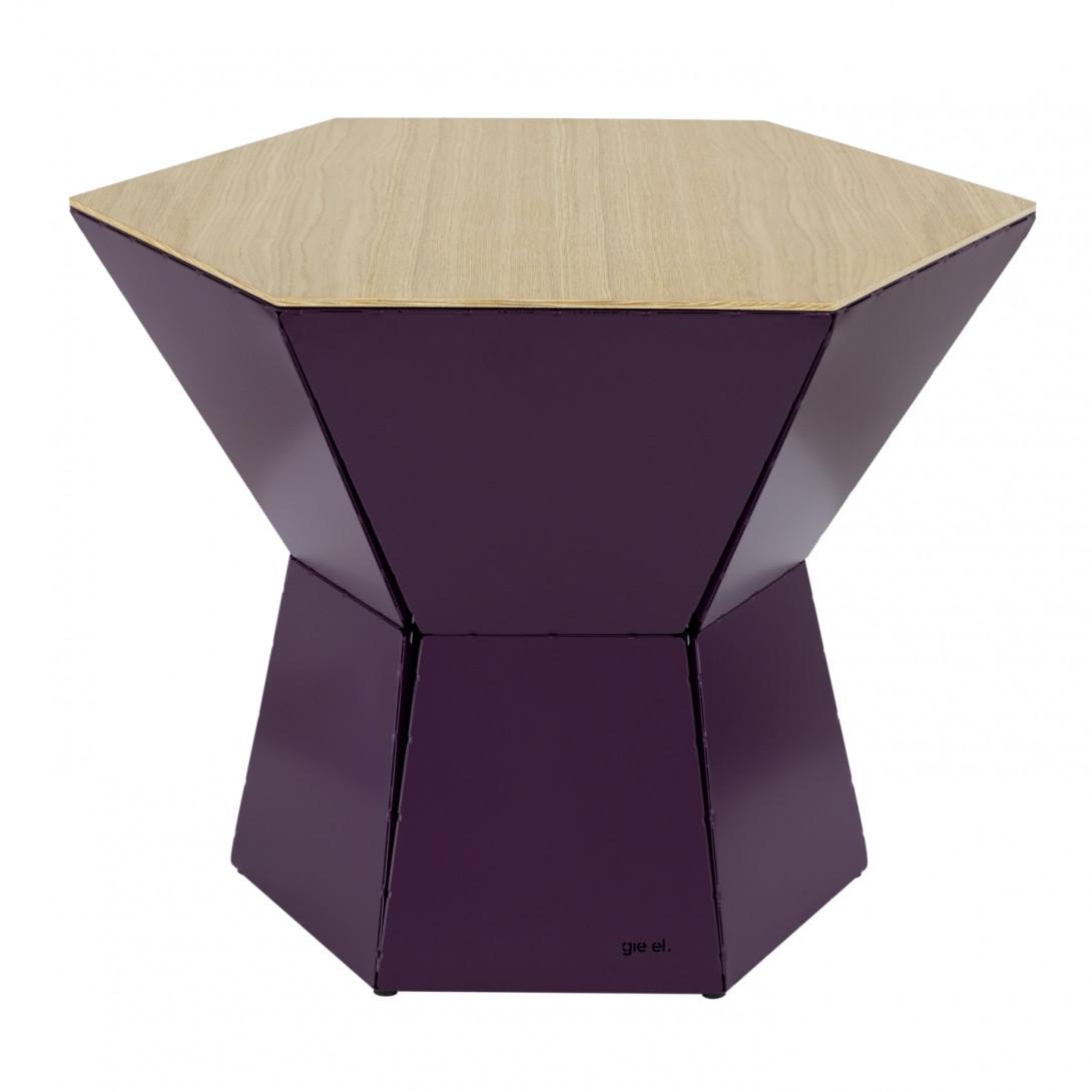 HEXA III coffee table in plum colour FCT0345