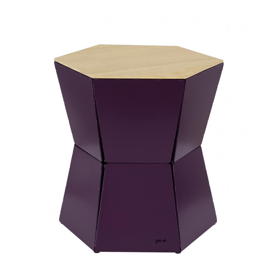 Side table HEXA II plum FCT0335