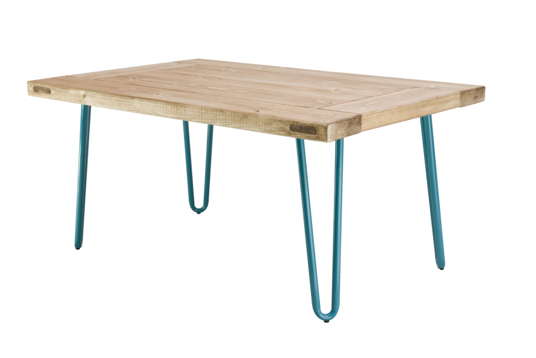 Coffee table VILLAGE DOOR turquoise legs FCT0012 - gie el