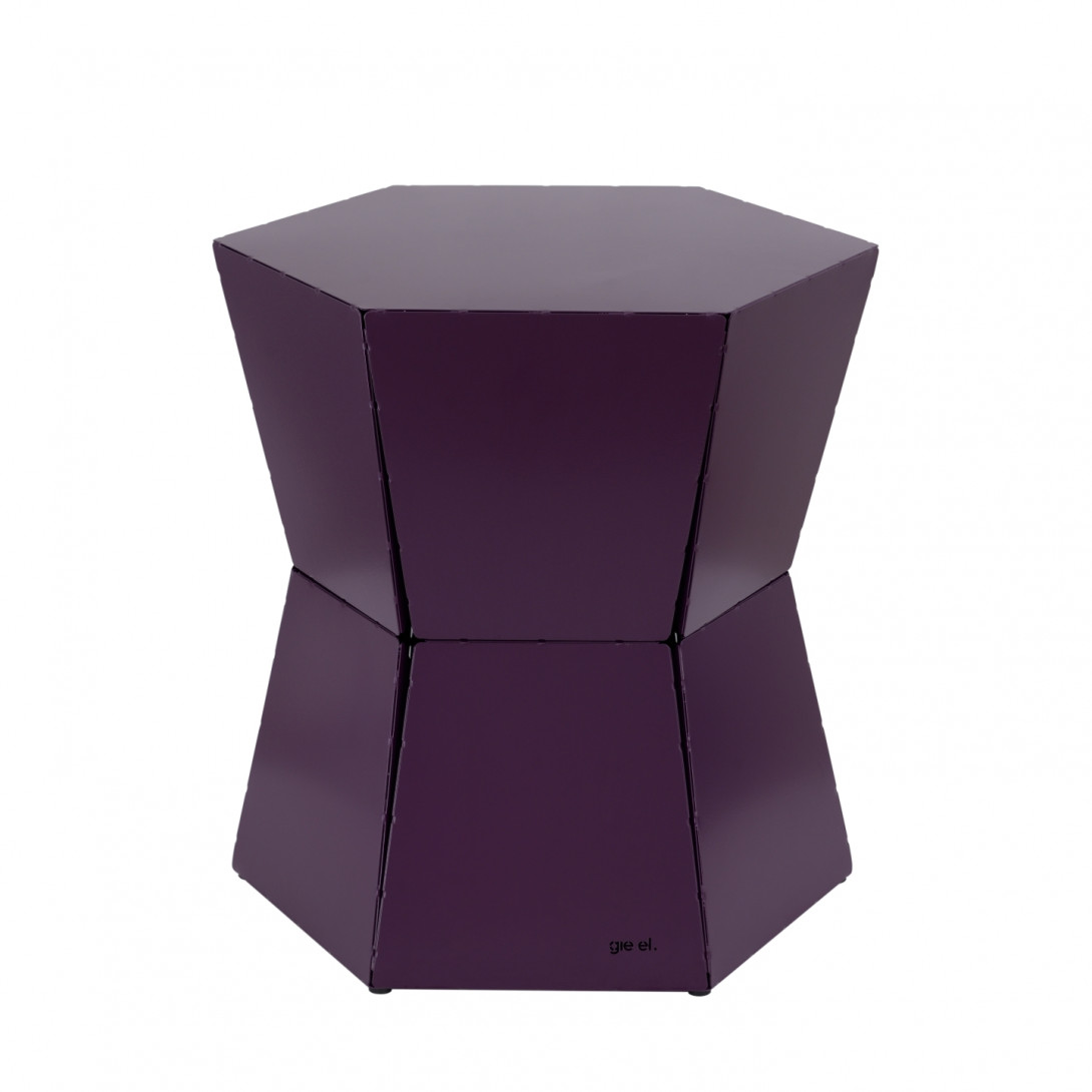 Side table HEXA II plum FCT0332