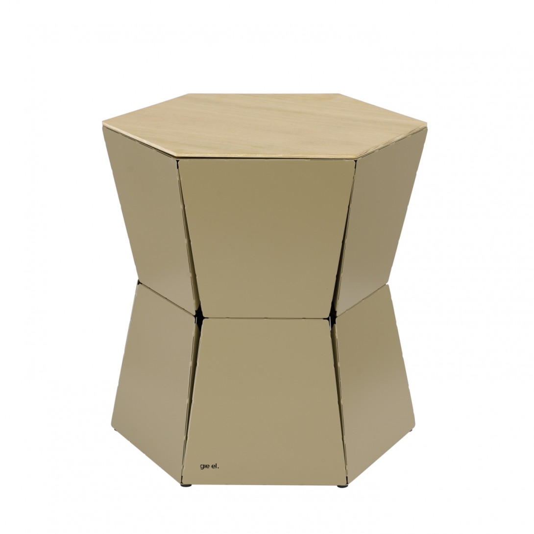 Side table HEXA II champagne FCT0333 - gie el
