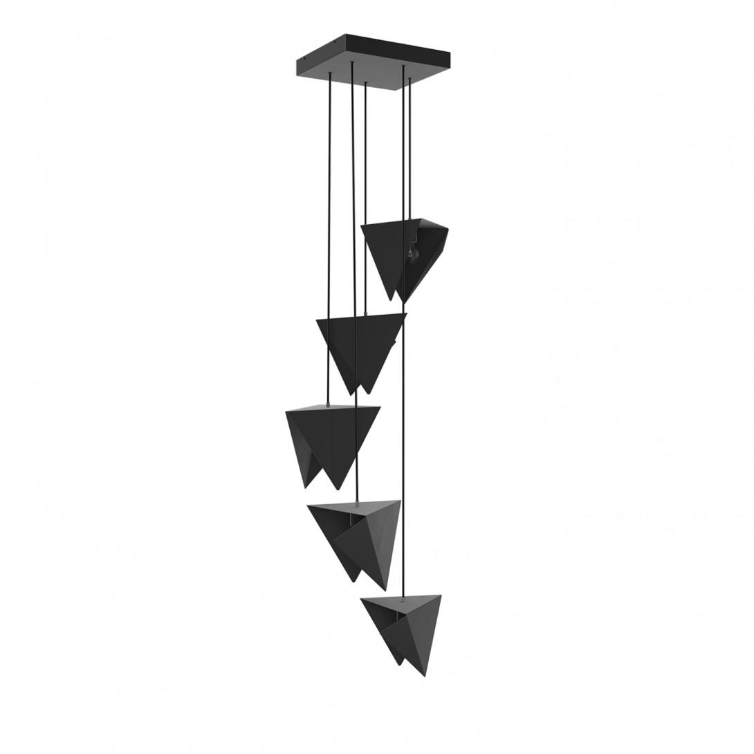 Żyrandol SPIRAL 5 czarny LGH0780 - gie el