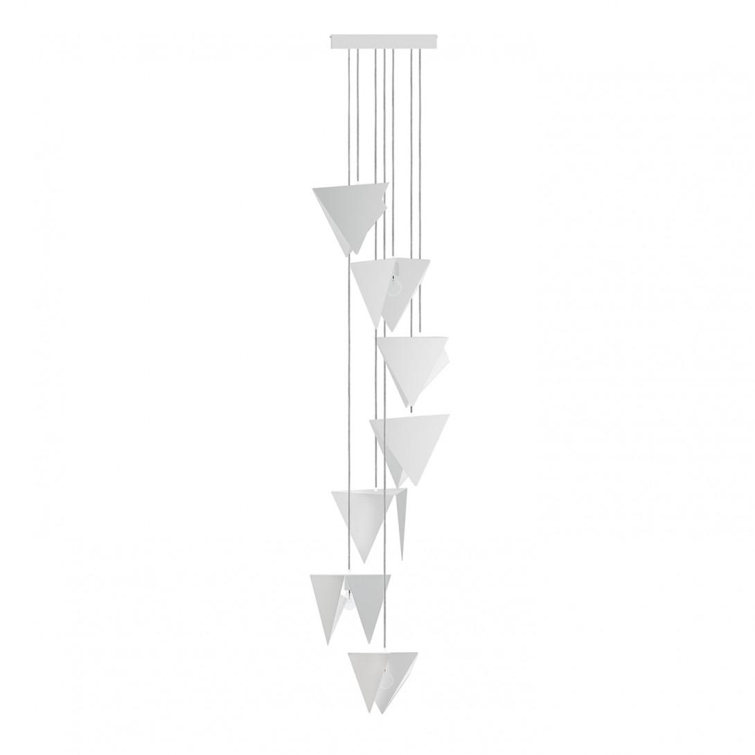 Żyrandol SPIRAL 7 biały LGH0791
