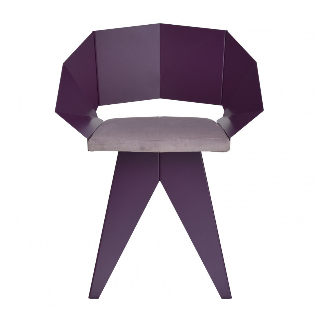 KNIGHT steel chair in plum FST0395
