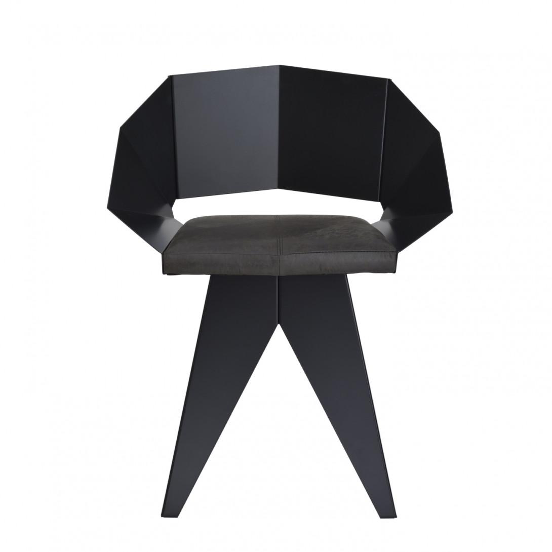 Stalowe krzesło KNIGHT czarne FST0391