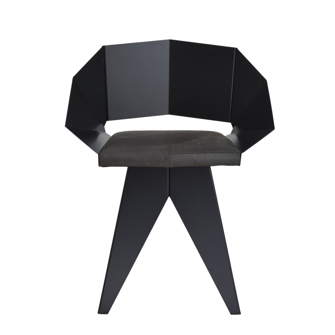 Black KNIGHT steel chair FST0391