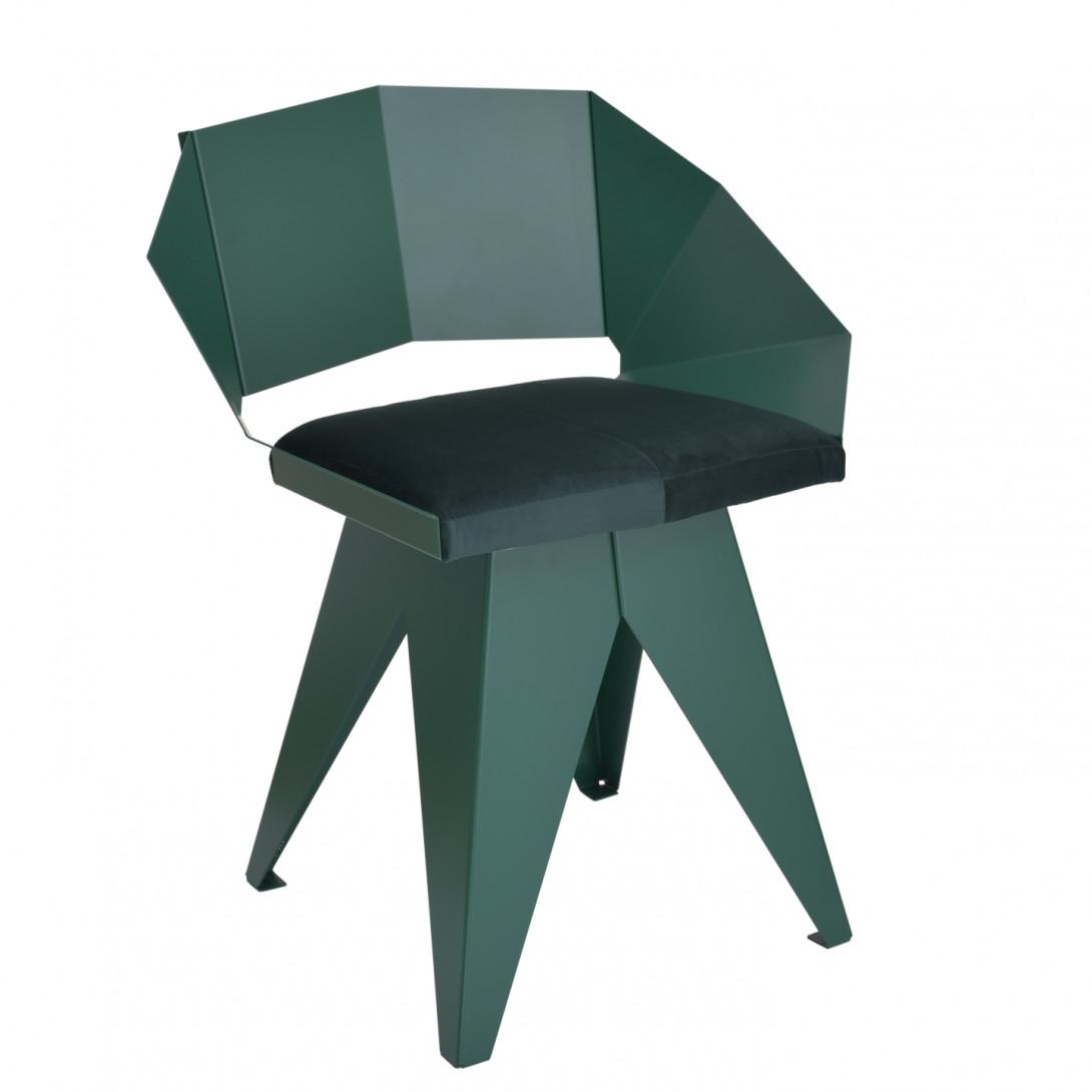 Stalowe krzesło KNIGHT zielone FST0397