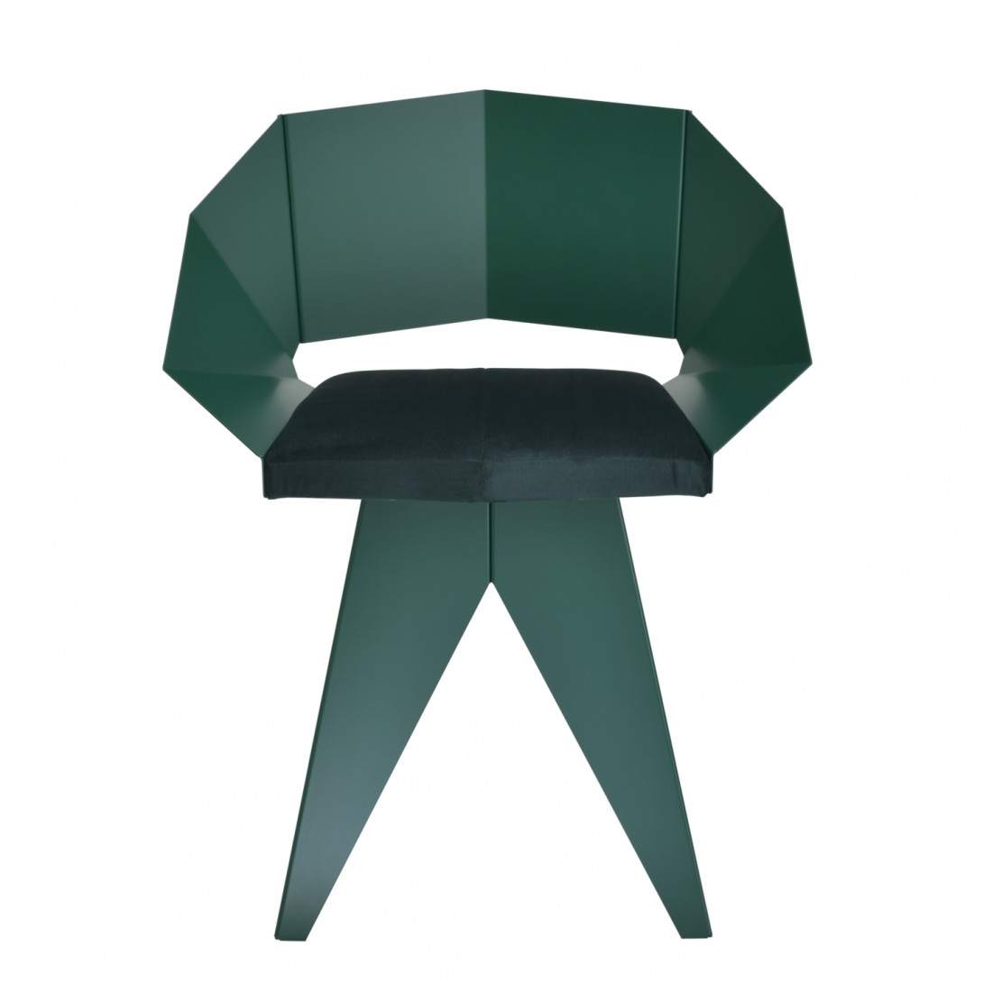 Green KNIGHT steel chair FST0397 - 1