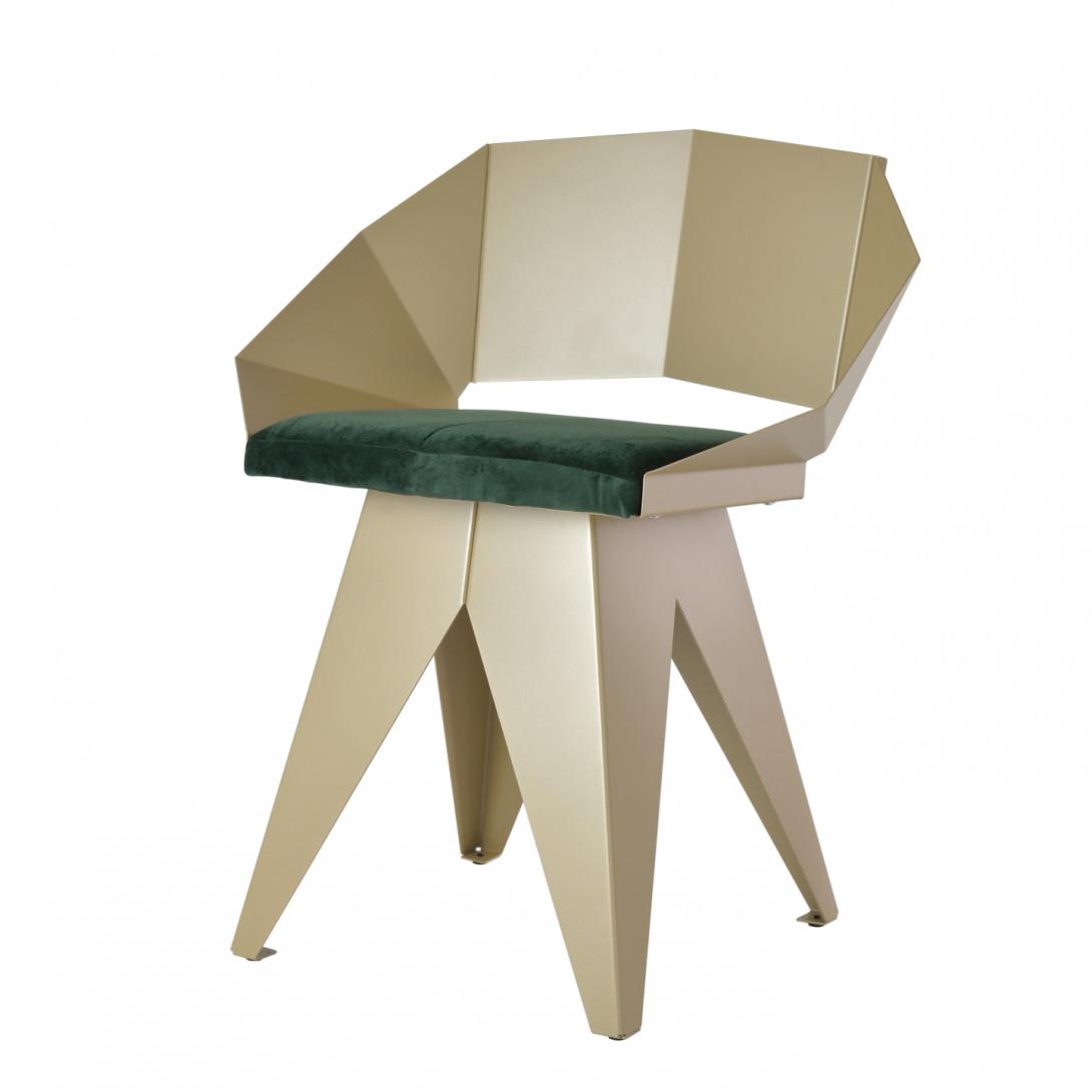 Stalowe krzesło KNIGHT szampańsko ciemnozielone FST0393